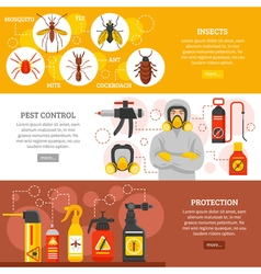 Pest control horizontal banners vector