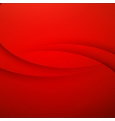 Red Abstract background with curves lines vector image