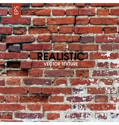 Red brick wall aged texture vector