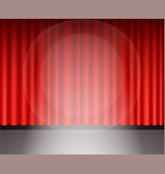 red theater curtain with light vector image vector image