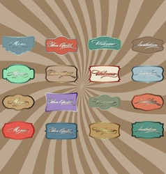 Retro color labels vector image vector image