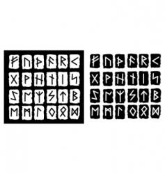 runes vector image vector image