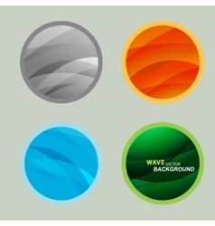 Set circle beautiful abstract wave color vector