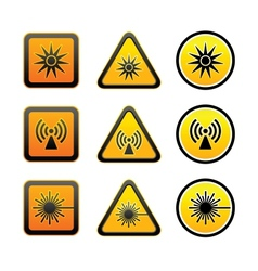 Set hazard warning symbols vector
