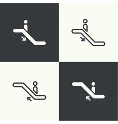 Set of icons escalator vector