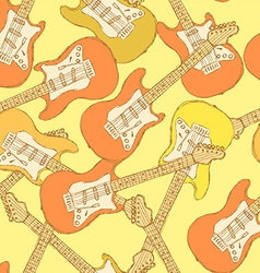 Sketch electric guitar musical instrument vector image