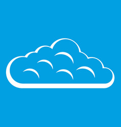 Sky cloud icon white vector