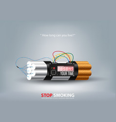 stop smoking concept advertisement tobacco vector image vector image