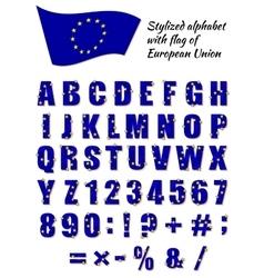 Stylized alphabet vector image