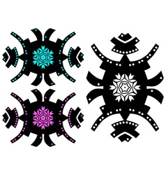 Trendy style tattoo design hipster ornament vector