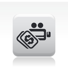 video pay icon vector image vector image
