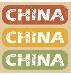 Vintage china stamp set vector