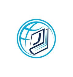 World education letter j vector