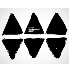 Set of grunge triangles vector