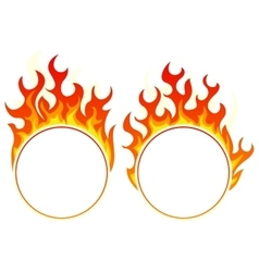 Burning round frame vector