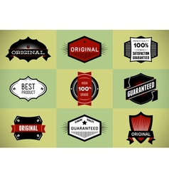 Set of original and premium labels vector