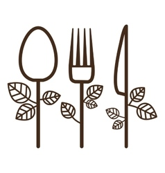 Isolated spoon knife and fork design vector