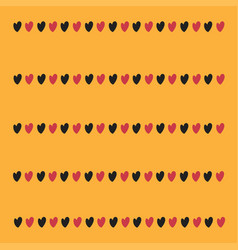 little hearts on a yellow background vector image