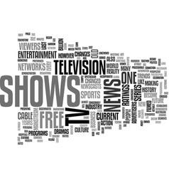 A brief run through of free tv shows text word vector