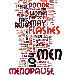 Men and menopause experience symptoms that are vector