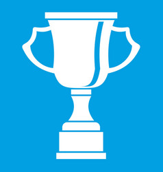 Cup for win icon white vector