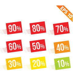 Stamp sale discount - - eps10 vector