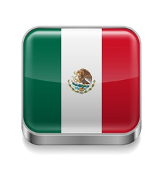 Metal icon of mexico vector