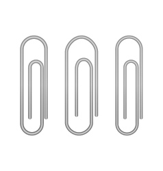 Paperclip icons on a white vector