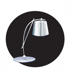 Reading lamp vector