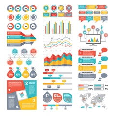 Infographic elements collection - business vector