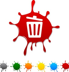 Recycle bin blot vector