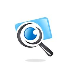 photo finder search camera logo vector image
