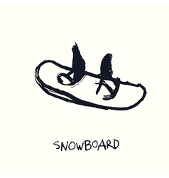 Snowboard hand drawn vector