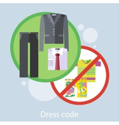 Dress Code Concept vector image