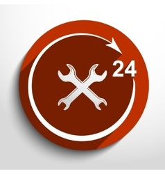 Repair icon 24 hours service vector