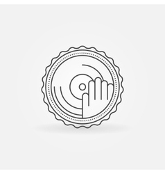 Dj label or badge vector