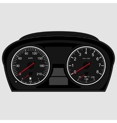 Car instrument panel vector
