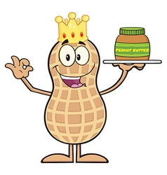 Royalty free rf clipart king peanut cartoon vector