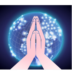 Prayer across the world vector
