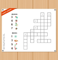 Crossword education game for children about vector
