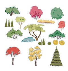 A set of plants vector