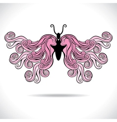 Abstract colorful butterfly vector