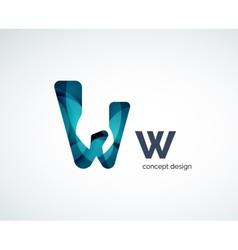 Abstract letter logo design vector