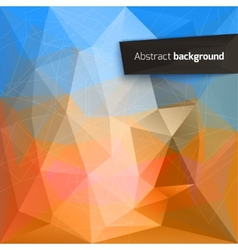 Abstract triangle backgrounds vector
