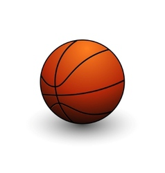 basketball ball symbol vector image