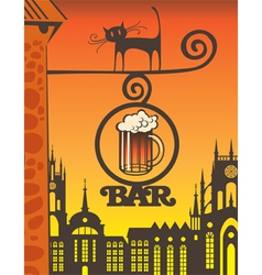 beer bar vector image