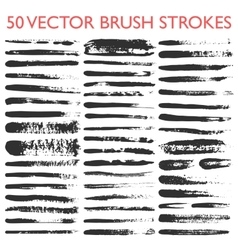 Big set of 50 grungy artistic brushes vector image vector image