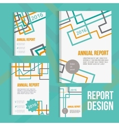 brochure cover design templates with vector image vector image