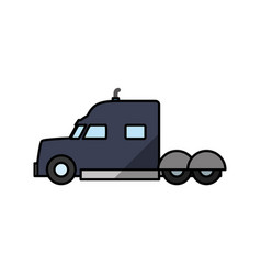 cargo truck vehicle vector image