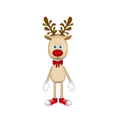 colorful christmas reindeer icon vector image vector image